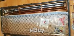 Hoyt Pro Medalist T/D Recurve Bow with Case Arrows instructions extra bow string