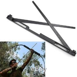 IRQ 50lbs Archery Folding Take Down Straight Bow Alloy Riser Hunting Shooting