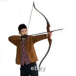 IRQ Archery Takedown Recurve Bow Hunting Wooden Longbow 58, 50lbs for Adult
