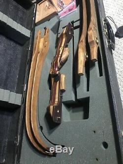 Left Hand Black Widow MA III Autumn Oak Recurve, 2 Sets Of Limbs, Case, Extras