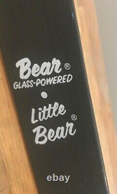 Little Bear Archery Bow Glass-Powered Amp-48 20#@24 Arrow Youth Recurve Wood
