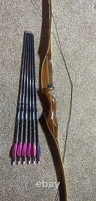 Long Bow / Recurve / Includes Carbon Arrows Damon Howatt