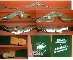MINTY! 70'S Bear Archery Kodiak Magnum Recurve Bow RH 40 lbs AMO-52