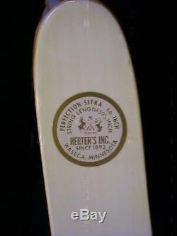 NEW RH Herter's Perfection Sitka Honduran Rosewood Recurve Bow 21# 66
