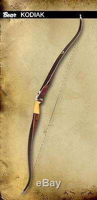 New Bear Archery Kodiak Satin Recurve Bow Pkg 45# RH Glove Armguard & Stringer
