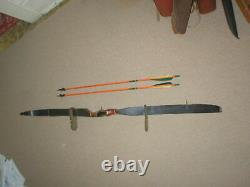 Nice Vintage Ben Pearson Mach One Recurve Bow X50# RH + Quiver and Arrows