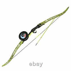 PSE Kingfisher Green Recurve Bowfishing Bow Package 56 inch with Arrow Reel RH
