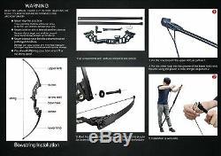 Retirar Arco Y Flechas Recurrentes Para Adultos Set 30 40 Lbs Aleacion De Al