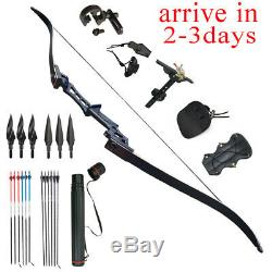 Right Hand 35lbs Recurve Bow Archery Fishing Arrow Set Hunting Traget Practice
