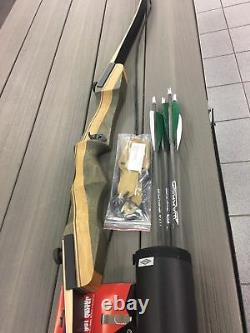 Samick/Galaxy Sage R/H Deluxe Recurve Bow Package withquiver, arrows, stringer tool
