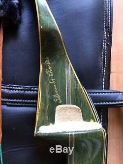 Stunning Vtg Fred Bear Archery Kodiak Magnum Recurve Bow Signed St. Charles Case