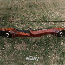 Takedown Recurve Bow 58'' 30-60lbs Wooden Riser Laminated Limbs Longbow Archery