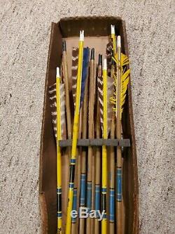 VINTAGE BEAR Glass Powered KODIAK HUNTER Recurve Bow 5845# with Arrows & Quiver