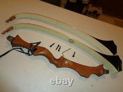 VINTAGE GOLDEN EAGLE Takedown Recurve Bow, 478 Limbs, Archery Research, LH