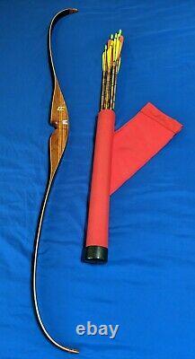 VTG Ben Pearson BP-H90 7388 RH Recurve Bow Archery 58 45# 28 + Arrows