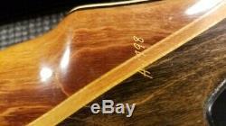 Vintage 1970 Fred Bear TakeDown Recurve & Case, Wood A Handle, RH, 58# 58AMO