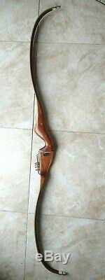 Vintage 1970's Fred Bear Archery Kodiak Hunter RH Recurve Bow 53# 60 9T11483