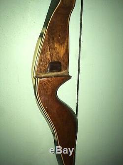 Vintage 38# Archery Fred Bear 68 Kodiak Hunter 60 Recurve Bow No Holes