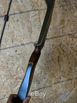 Vintage BEAUTY Bear Archery 1965 KODIAK ROSEWOOD 46# 60 Recurve Bow