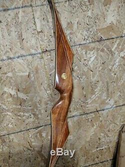 Vintage BEAUTY Bear Archery 1966 KODIAK ROSEWOOD 56# 60 Recurve Bow