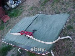 Vintage BLACK WIDOW Olympics Recurve Archery Bow with Attachments