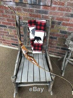 Vintage Bear Archery Grizzly Recurve Bow, Grayling Mich. Free Bow Sock, 50lb USA
