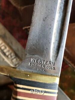 Vintage Bear Archery Knife & File Set, Fred Bear, Recurve Bow, 1950s