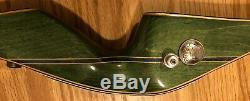 Vintage Bear Archery Kodiak Magnum Glass Powered Recurve Bow Green 52 45#