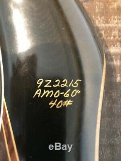 Vintage Bear Glass-Powered Super Kodiak Recurve Bow 9Z2215, AMO 60- 40#