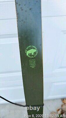 Vintage Bear Grizzly Grayling RH 50# & RH 35# Draw Recurve Bow