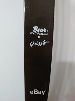 Vintage Bear Grizzly Model Glass Powered Recurve Bow Kr7068 58 40#