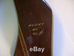 Vintage Bear Kodiak Glass Powered Recurve (lh) Left Hand