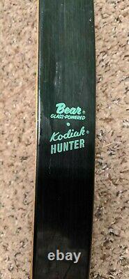 Vintage Bear Kodiak Hunter Recurve Bow KT01653 AMO 60 45# Left Hand Unstrung
