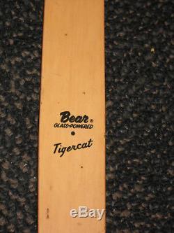 Vintage Bear Tigercat Right Hand Recurve Bow 60# / AMO 52