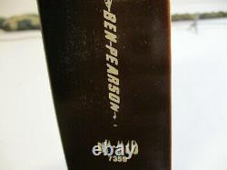 Vintage Ben Pearson Recurve Bow BP-H70 7359 RH 40# 58 With Adj. Bow Sight
