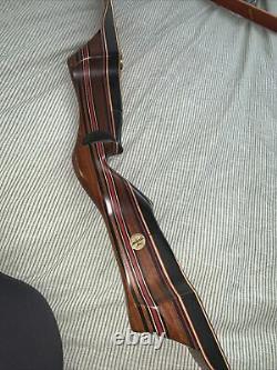 Vintage Black Widow Ironwood recurve longbow 62 Right hand