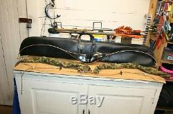 Vintage FRED BEAR SUPER MAGNUM 48 RECURVE BOW LEFT HAND 50 Pound WithCASE & ARROWS