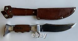 Vintage Fred Bear Archery Hunting Knife & Sheath by Olsen, Germany Recurve Bow