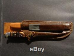 Vintage Fred Bear Archery Knife & File Set