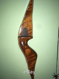 Vintage Fred Bear Archery Kodiak Hunter 53# 58 Rh Recurve Bow No Holes