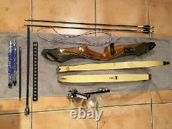 Vintage Fred Bear Bow With C Riser, Take Down Excellent Shape With Extras