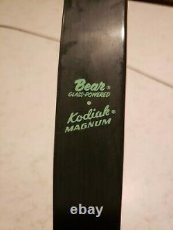 Vintage Fred Bear Glass Powered Kodiak Magnum Recurve Bow 52 45#
