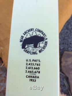Vintage Fred Bear Recurve Bow Polar/ RH 6625#