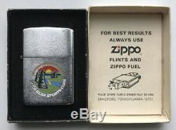 Vintage Fred Bear Sports Club Zippo Lighter Archery Recurve Traditional Bow RARE