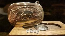 Vintage Fred Bear Vertel commissioned Belt Buckle. Original Excellent condition