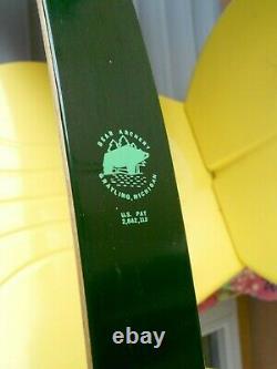 Vintage GREEN FRED BEAR KODIAK HUNTER Recurve RH BOW KT 52564 AMO 60 45#