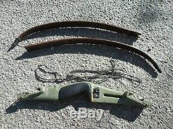 Vintage Green Bear Takedown Recurve Bow Custom AMO 58