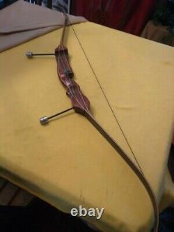 Vintage Hoyt Archery Pro Medalist Hunter recurve Rosewood Orange stripe
