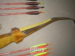 Vintage ODD Bud Hit Crusader Recurve Bow 49# RIGHTY + Hunting Arrows