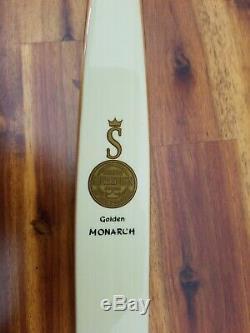 Vintage Rare 1960's Ben Pearson Recurve Bow Golden Sovereign Monarch Zebra Wood